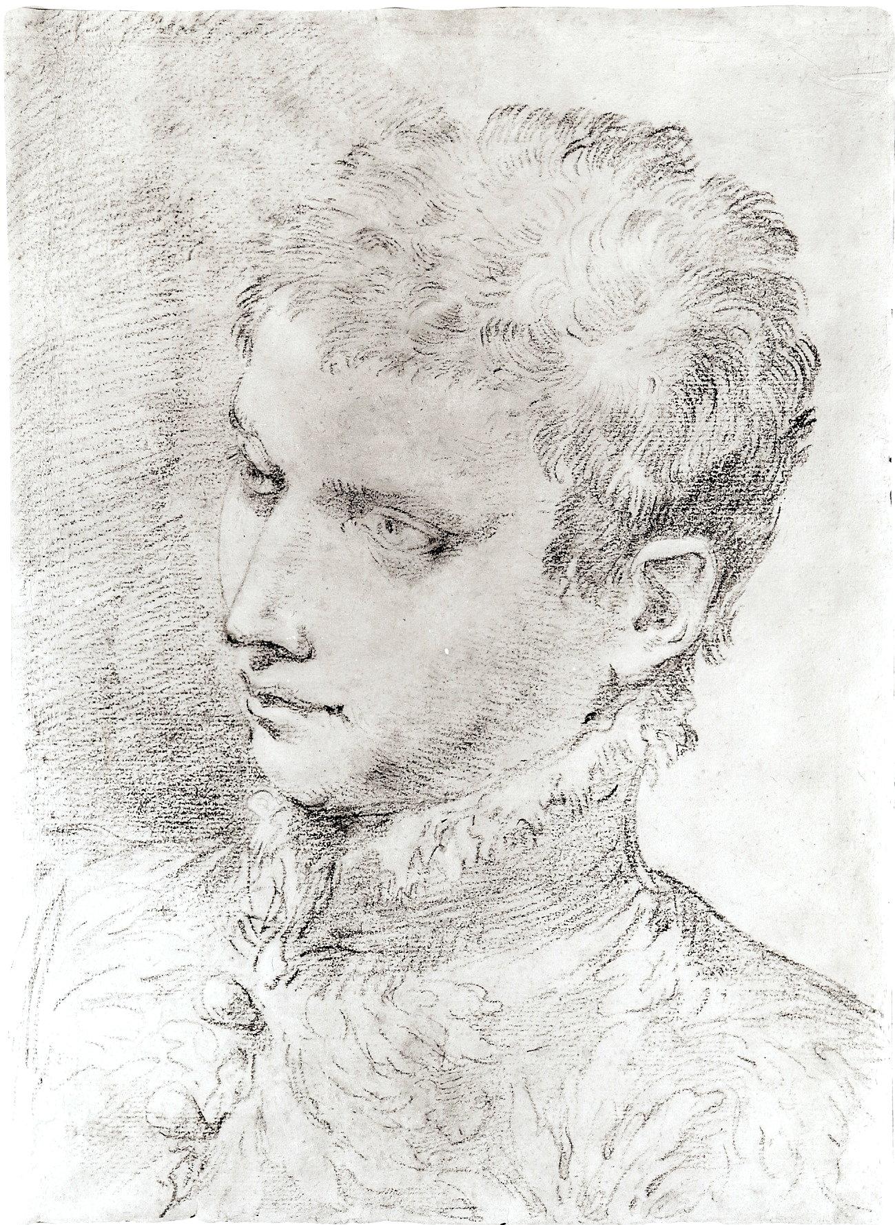 Domenico Creti – Head of a Young Man