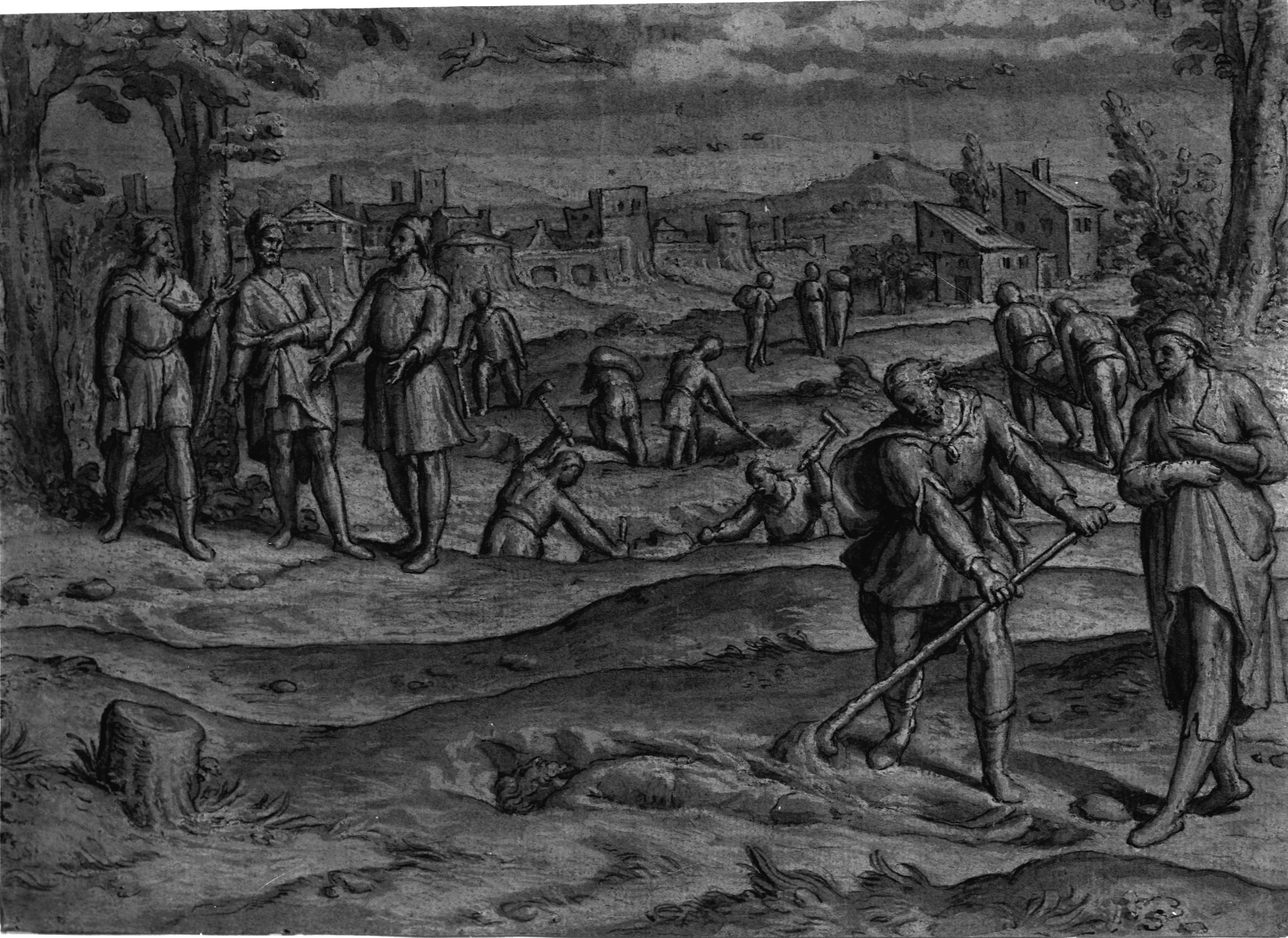 Pedro de Campana – Moses Burying the Egyptian Taskmaster