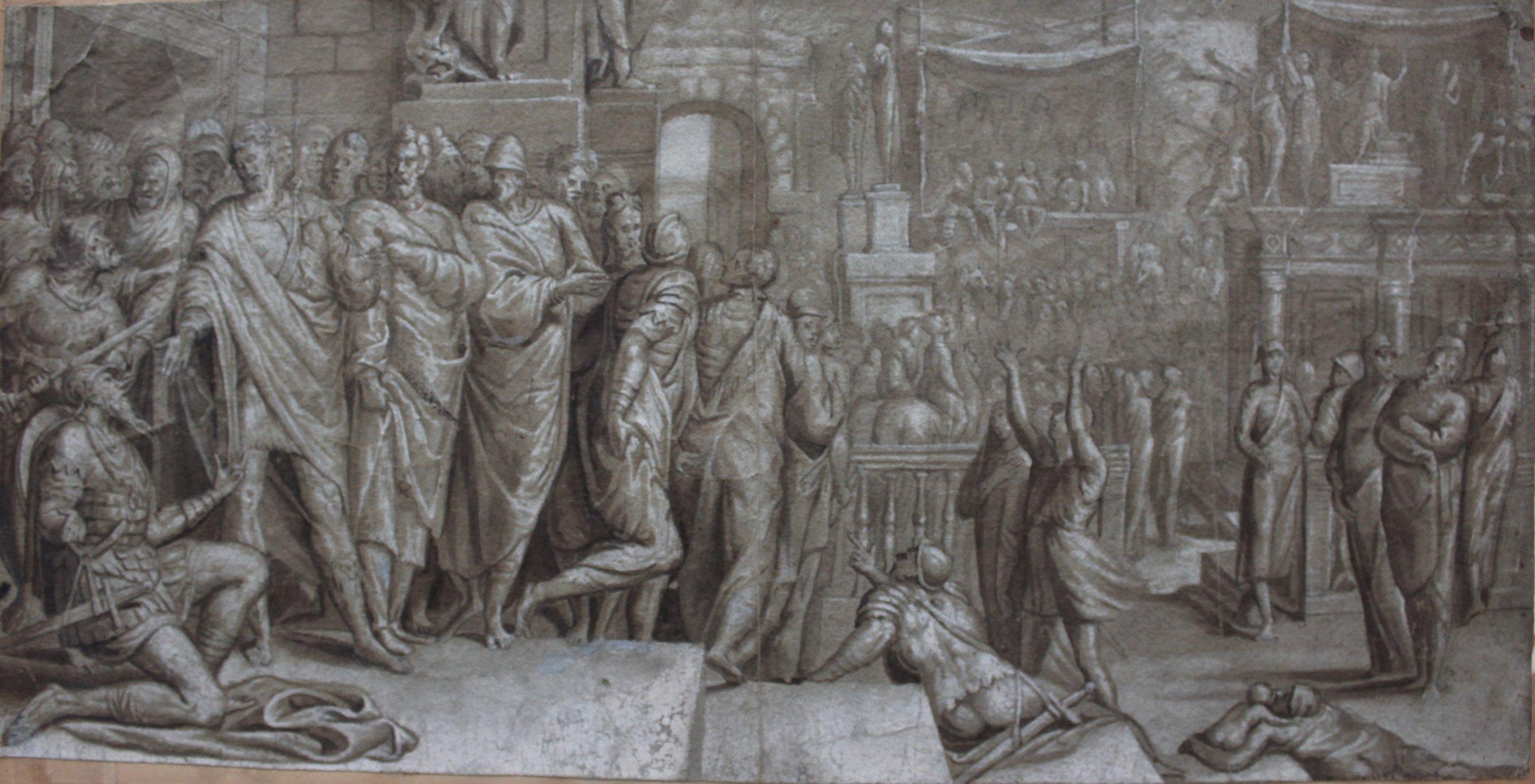 Pedro de Campaña – Flavius Josephus and the Emperor Vespasian