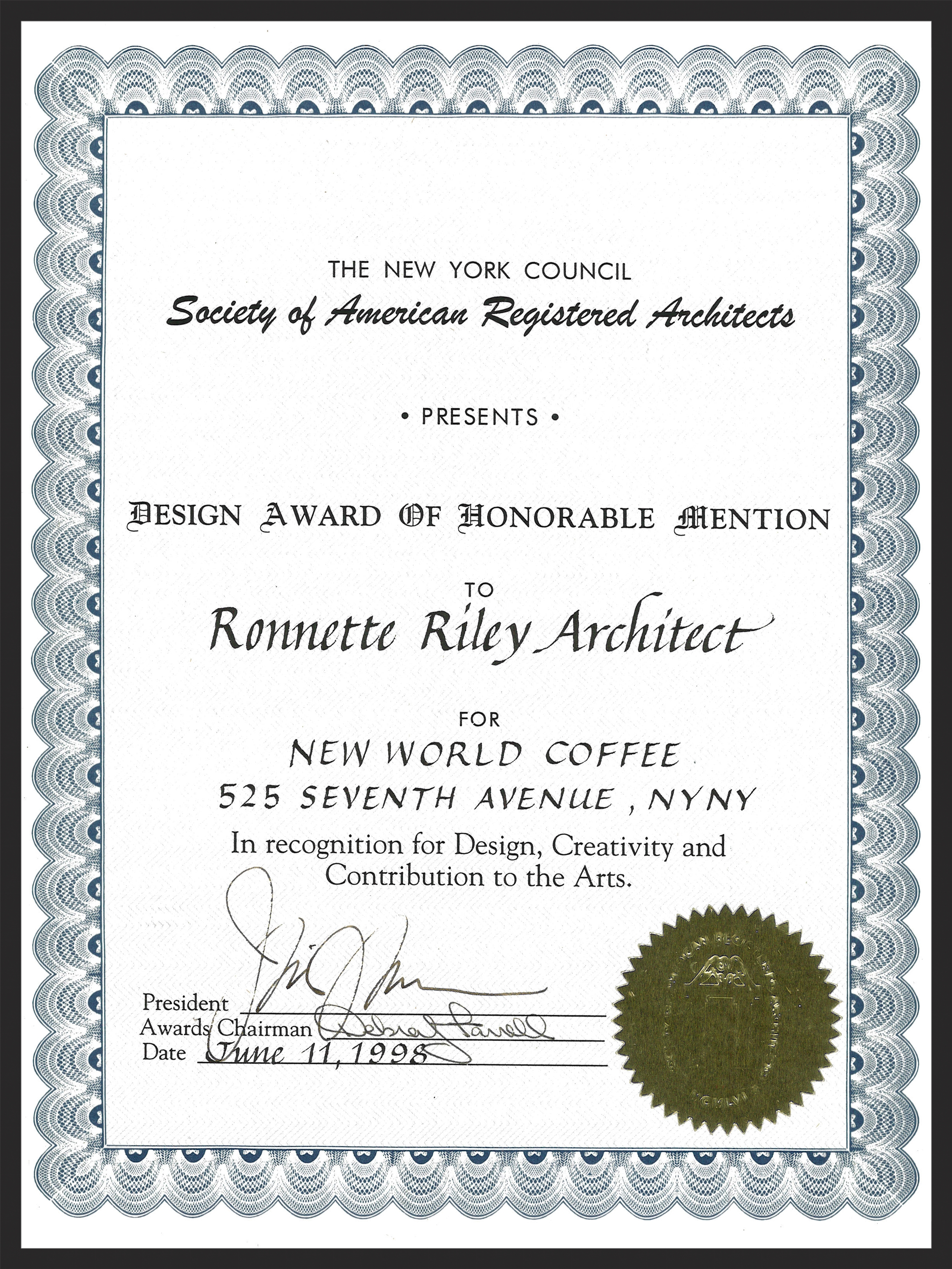 New World Coffee - NYCSARA Award.jpg