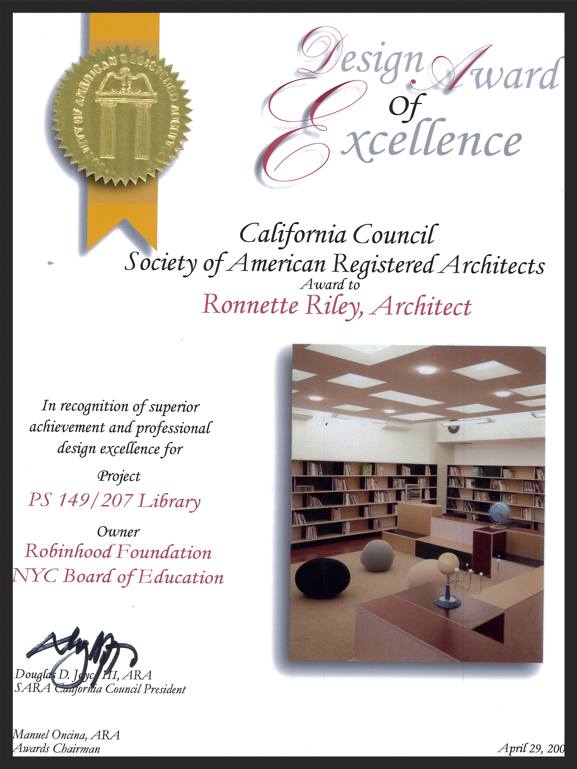 Soujourner Truth Library - CCSARA Merit Award.jpg