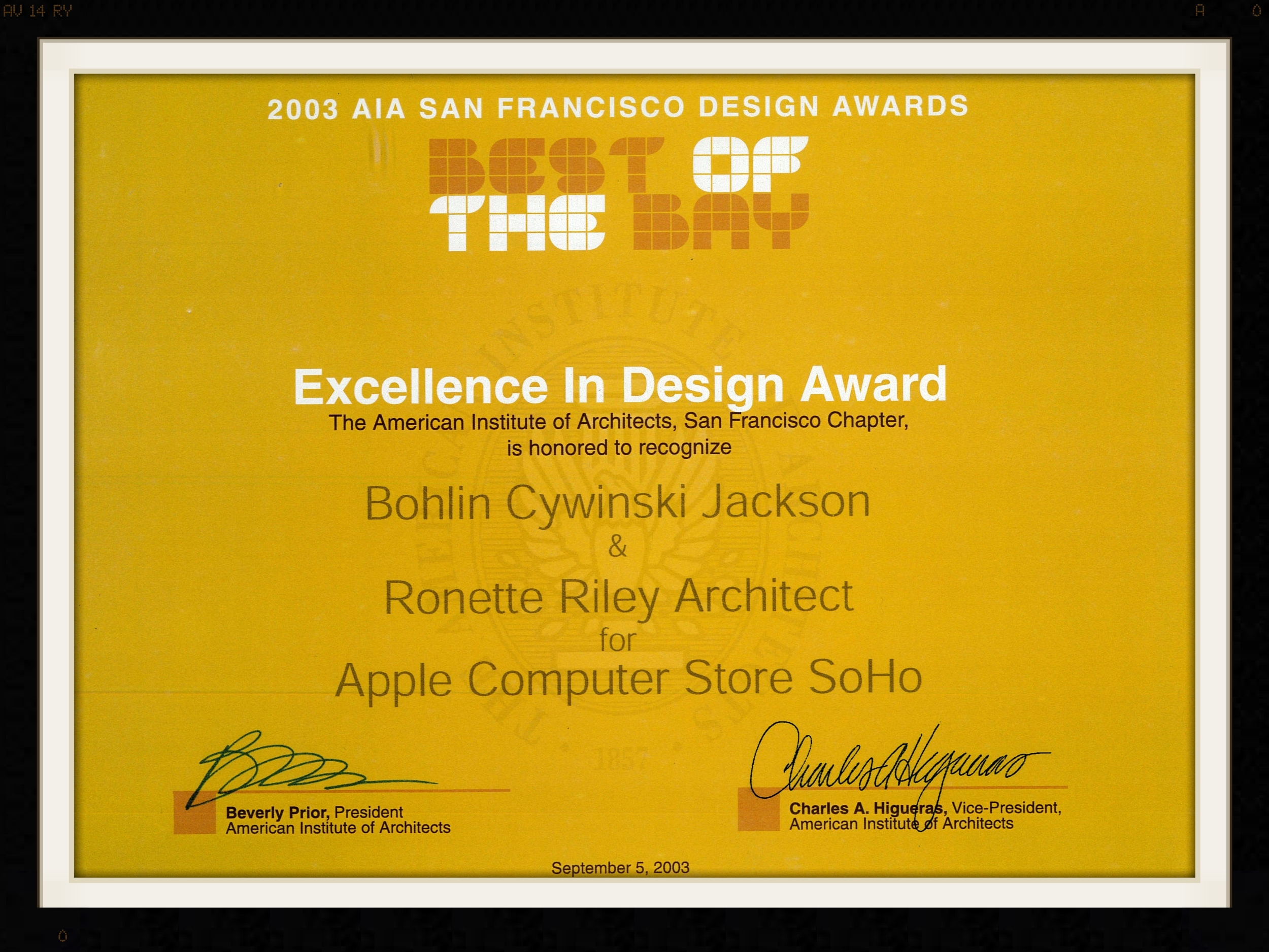 Apple Store - Best of the Bay Award 2003.jpg