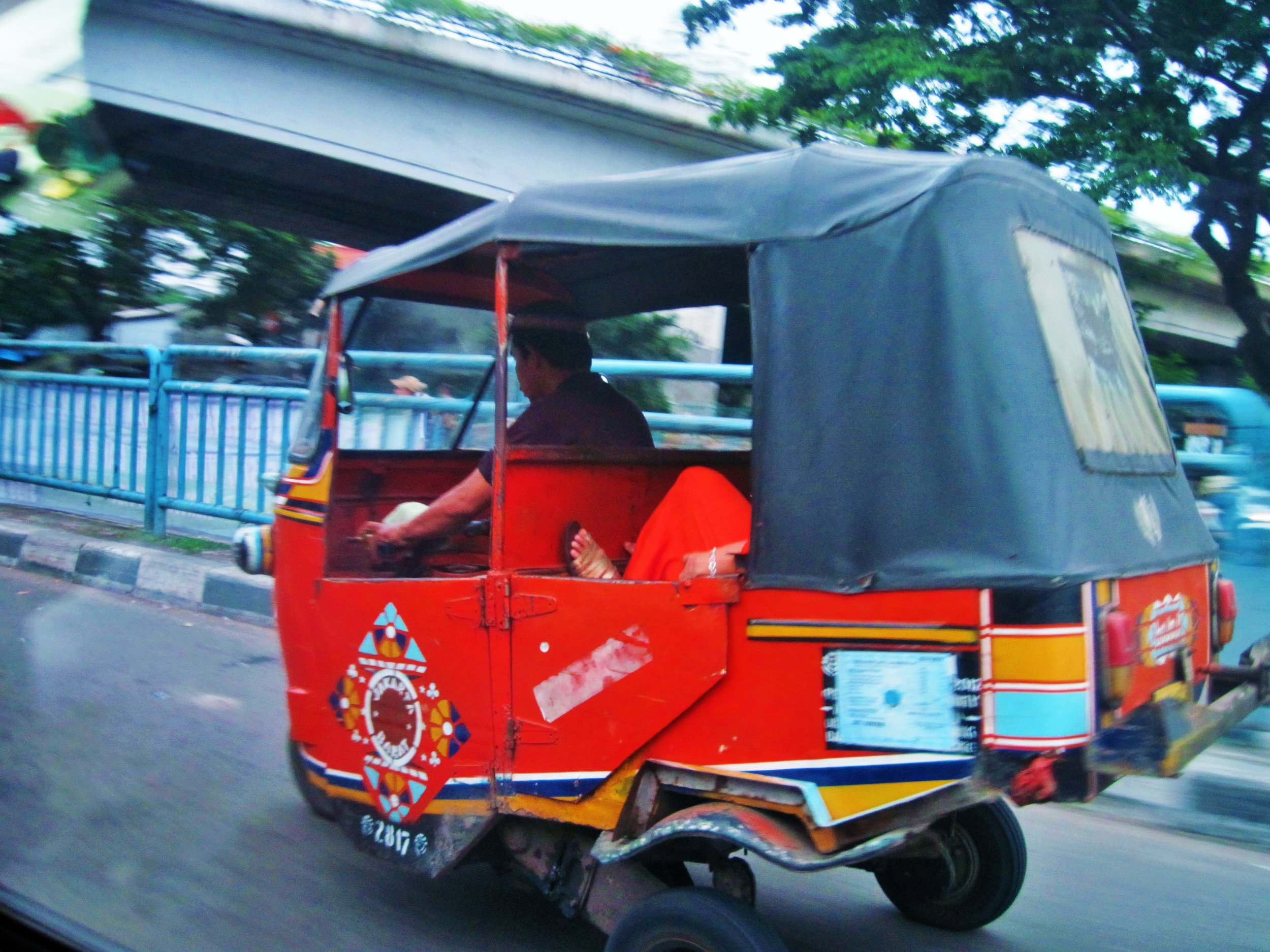 Rickshaw in Jakarta, Indonesia