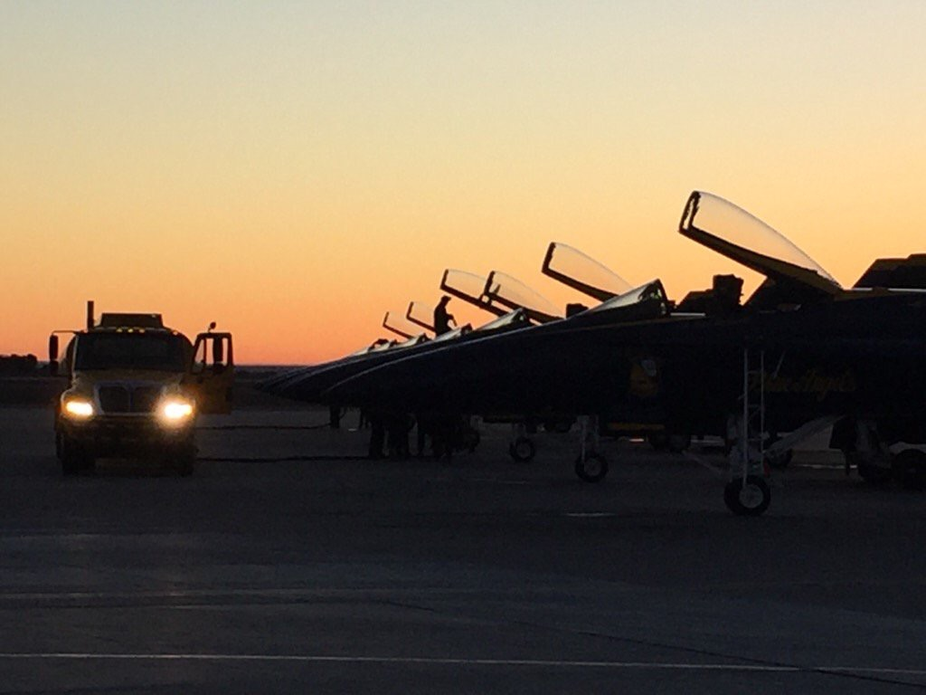 The Blue Angels fuel the jets and prepare to travel to San Francisco. Photo by LCDR Joe Schwartz.