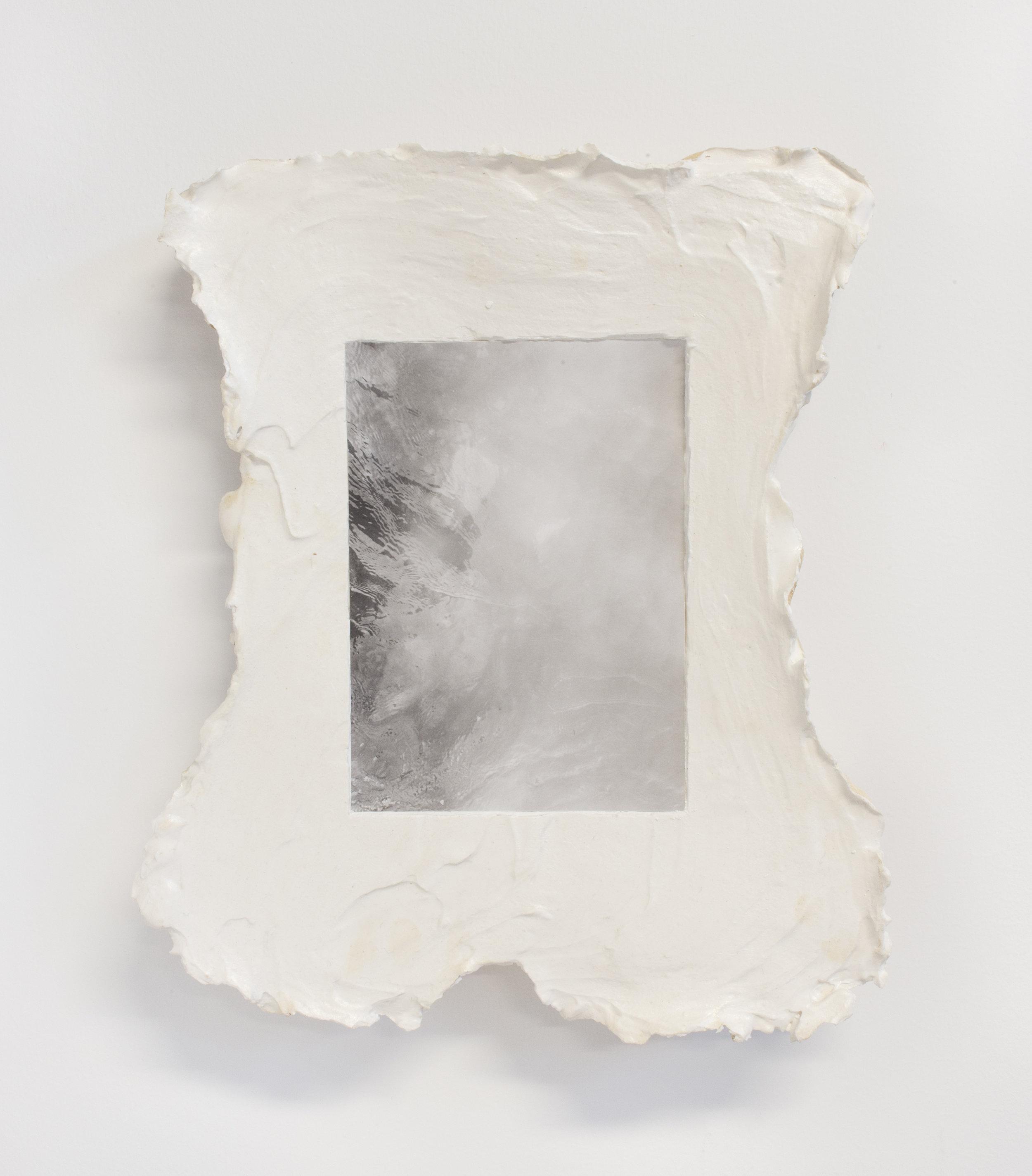 2018, Plaster, silver gelatin print, wax, 13 x 10.5 x 2 inches