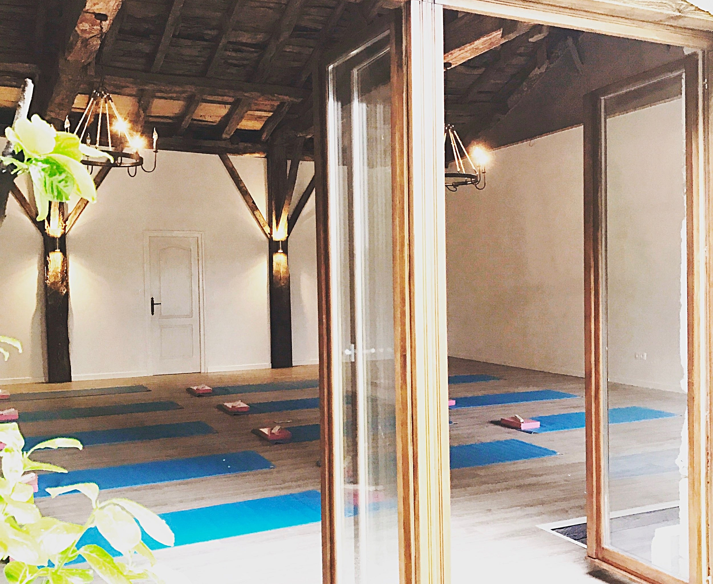Welcome to the yoga room, come on in...