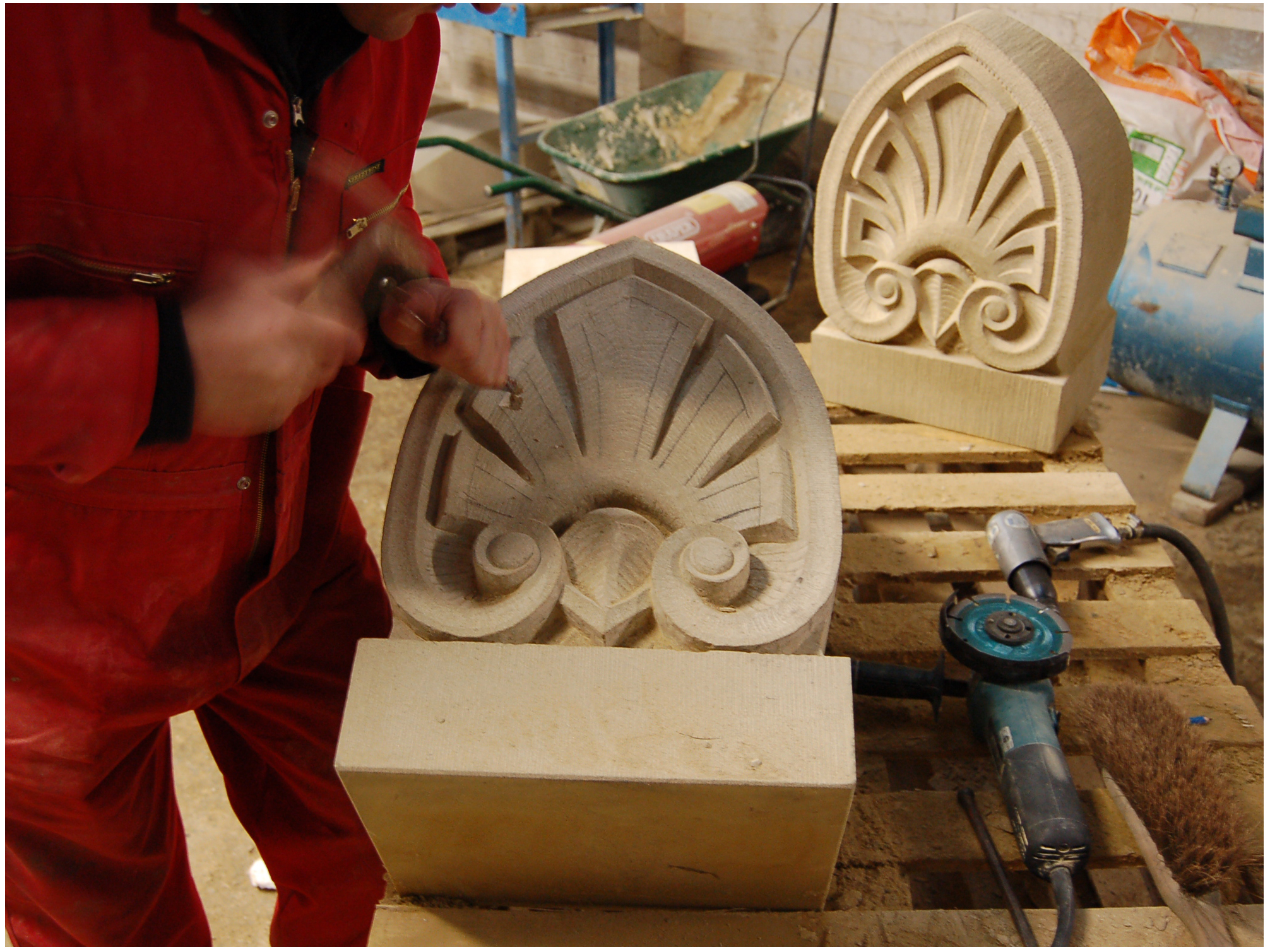 re working bishops mitre detail for cupola.JPG