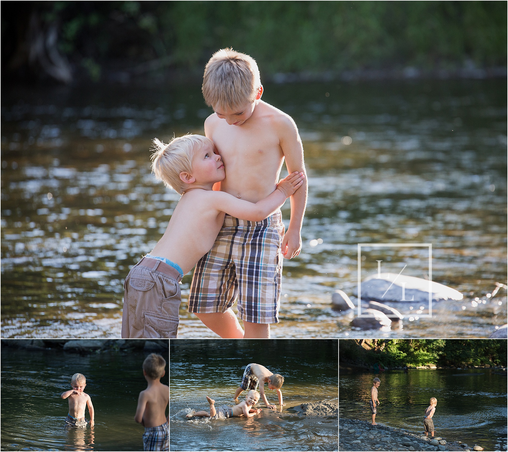 Sibling Pictures Pilchuck River Snohomish