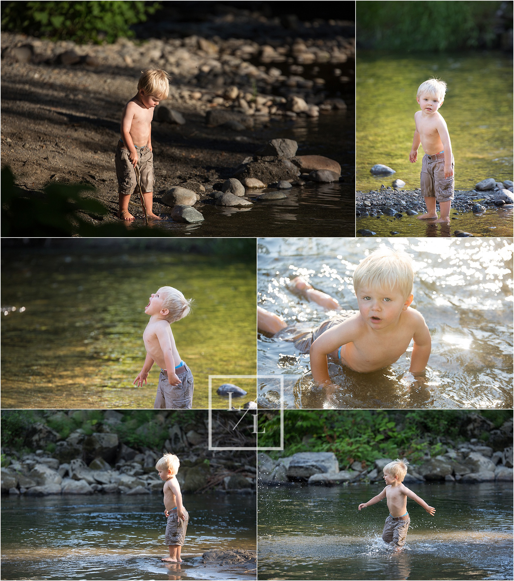 Fun family pictures at river snohomish