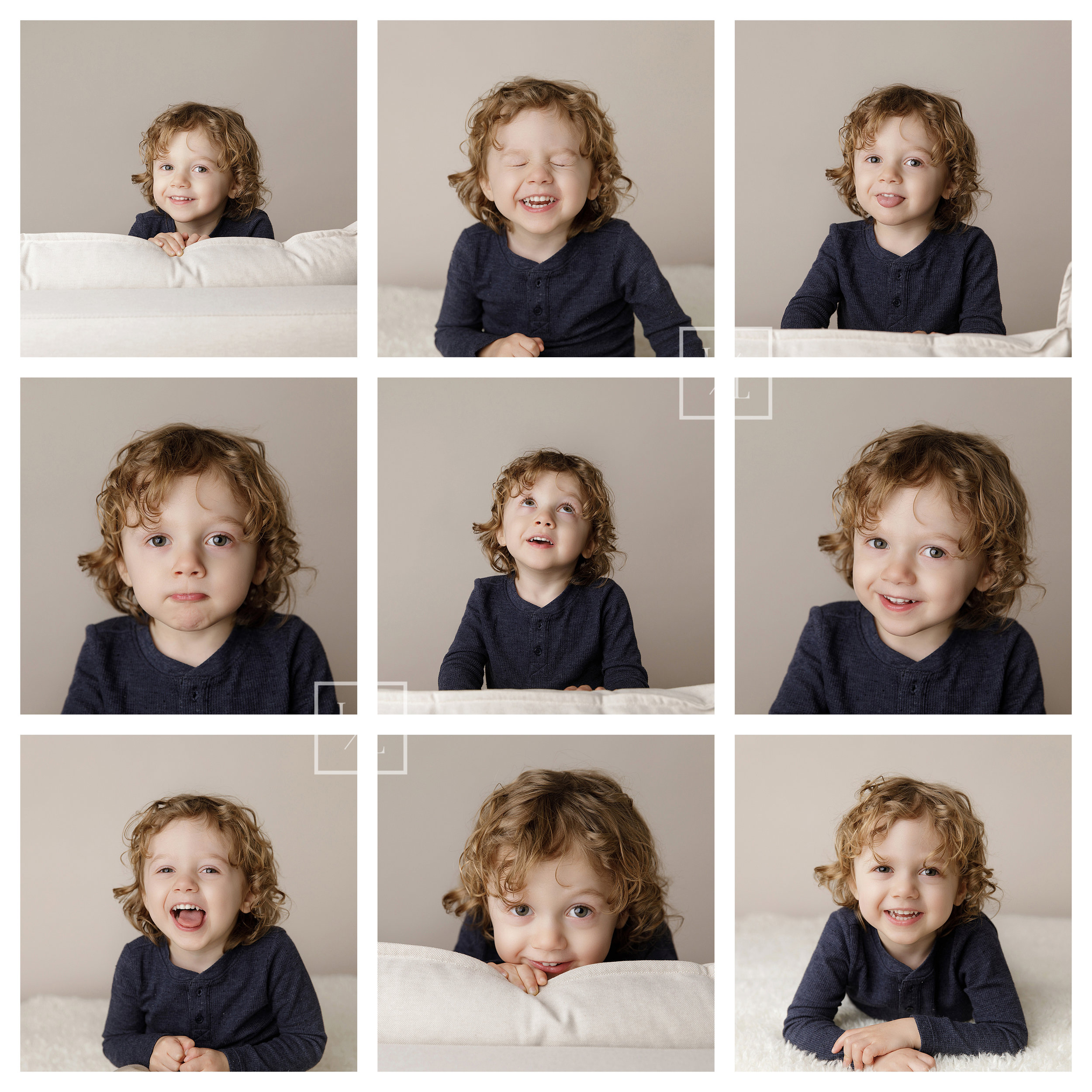 Collage of toddler expression pictures