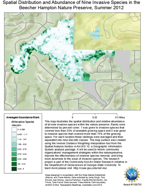""" Mapping non-native invasive species and accessibility in an urban forest: A case study of participatory mapping and citizen science in Atlanta, Georgia "" publication up in  Applied Geography  Journal!"