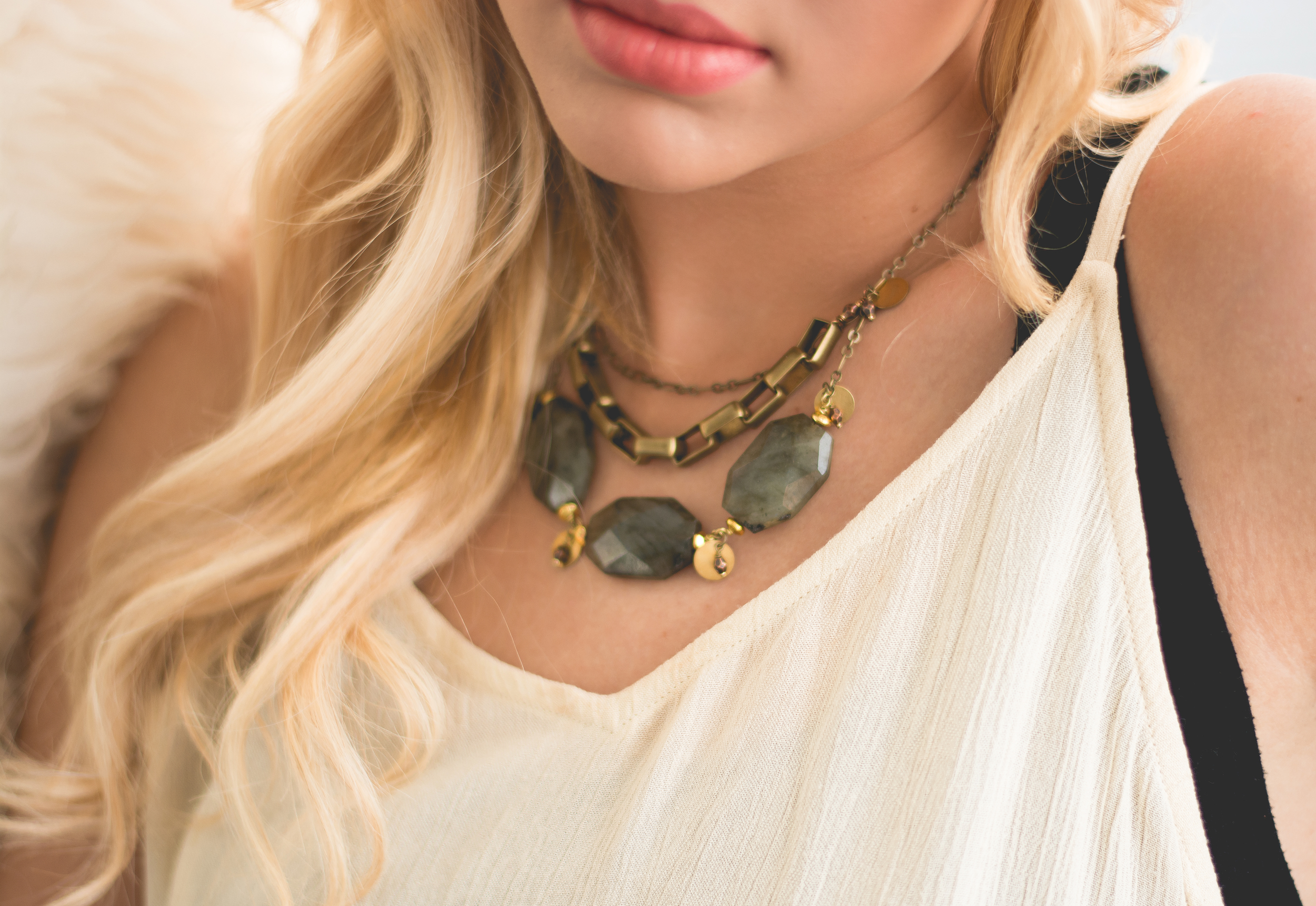 The Marvelous Light bib necklace is a great addition to your Easter outfit!
