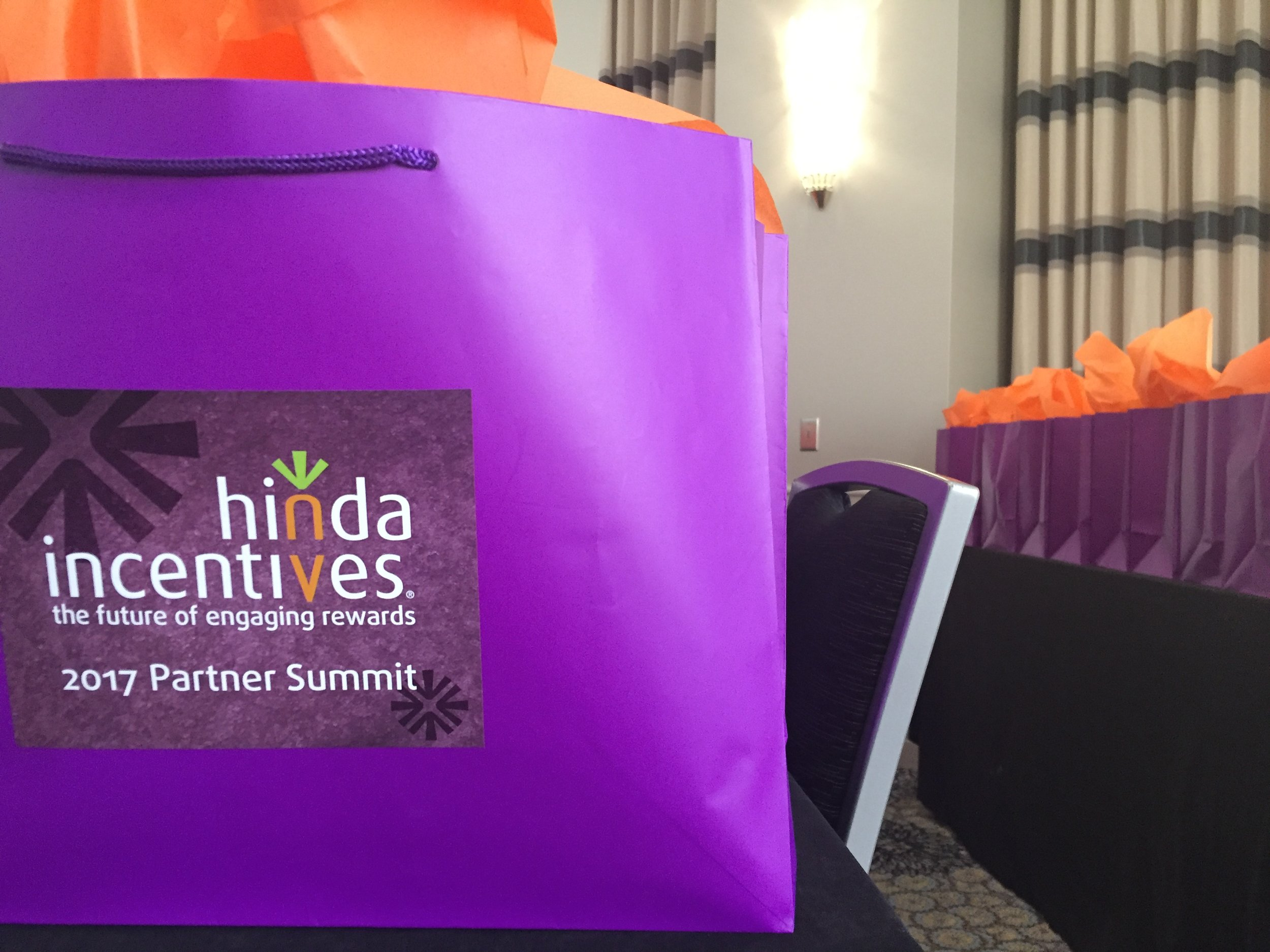 Prepping a room full of goodie bags for summit guests. Loving the Hinda colors!