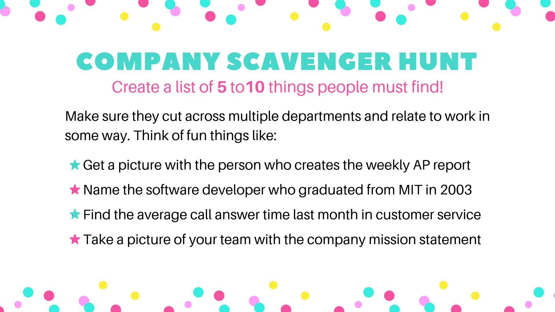 Company Scavenger Hunt