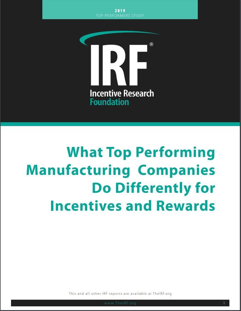 What Top Performing Manufacturing Companies Do Differently for Incentives and Rewards