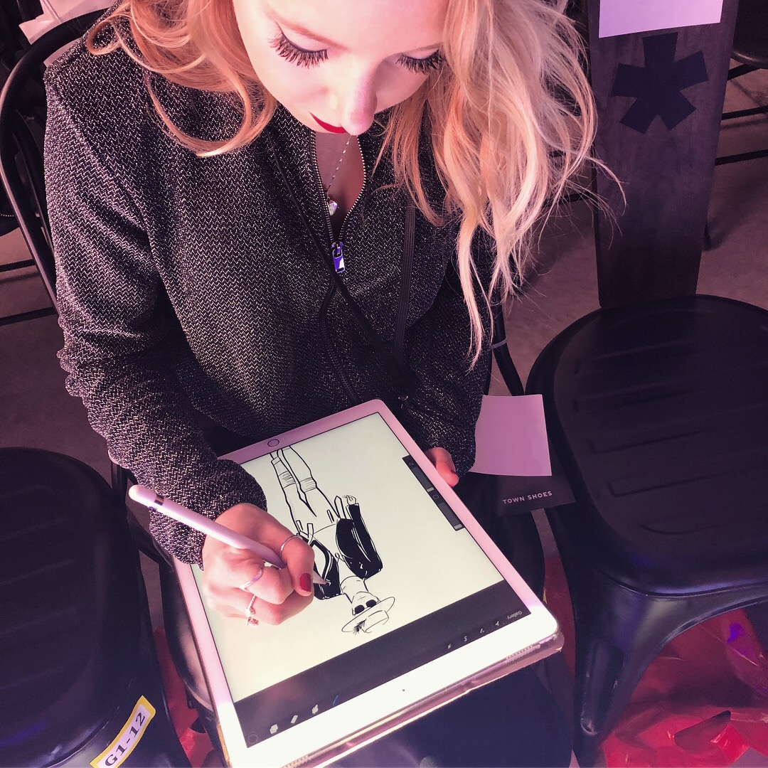 Sketching the runway at TOM* Fashion Week
