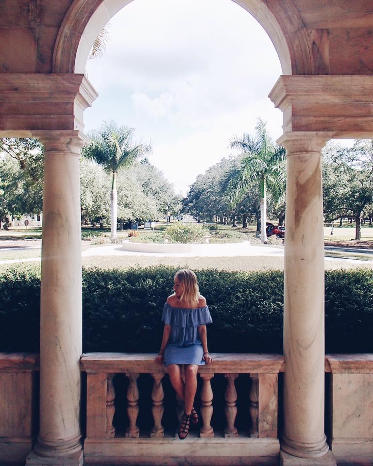 Visiting a museum in Sarasota, Florida