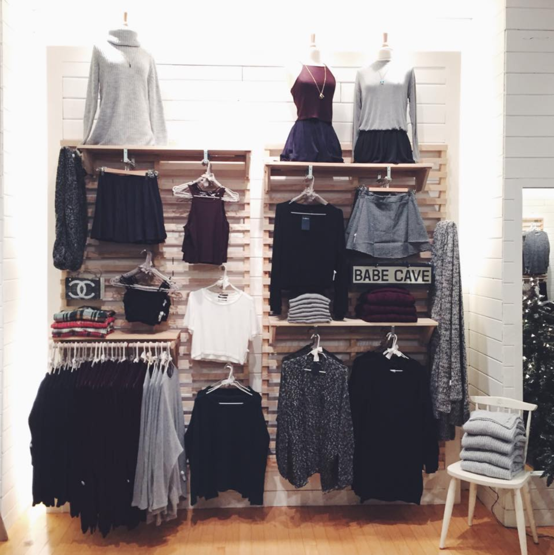 I also worked as a part-time visual merchandiser at Brandy Melville during university!
