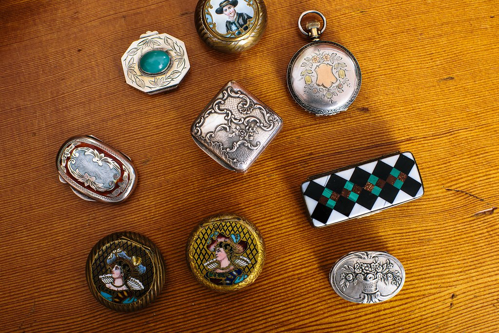 antique and one-of-a-kind perfume jars