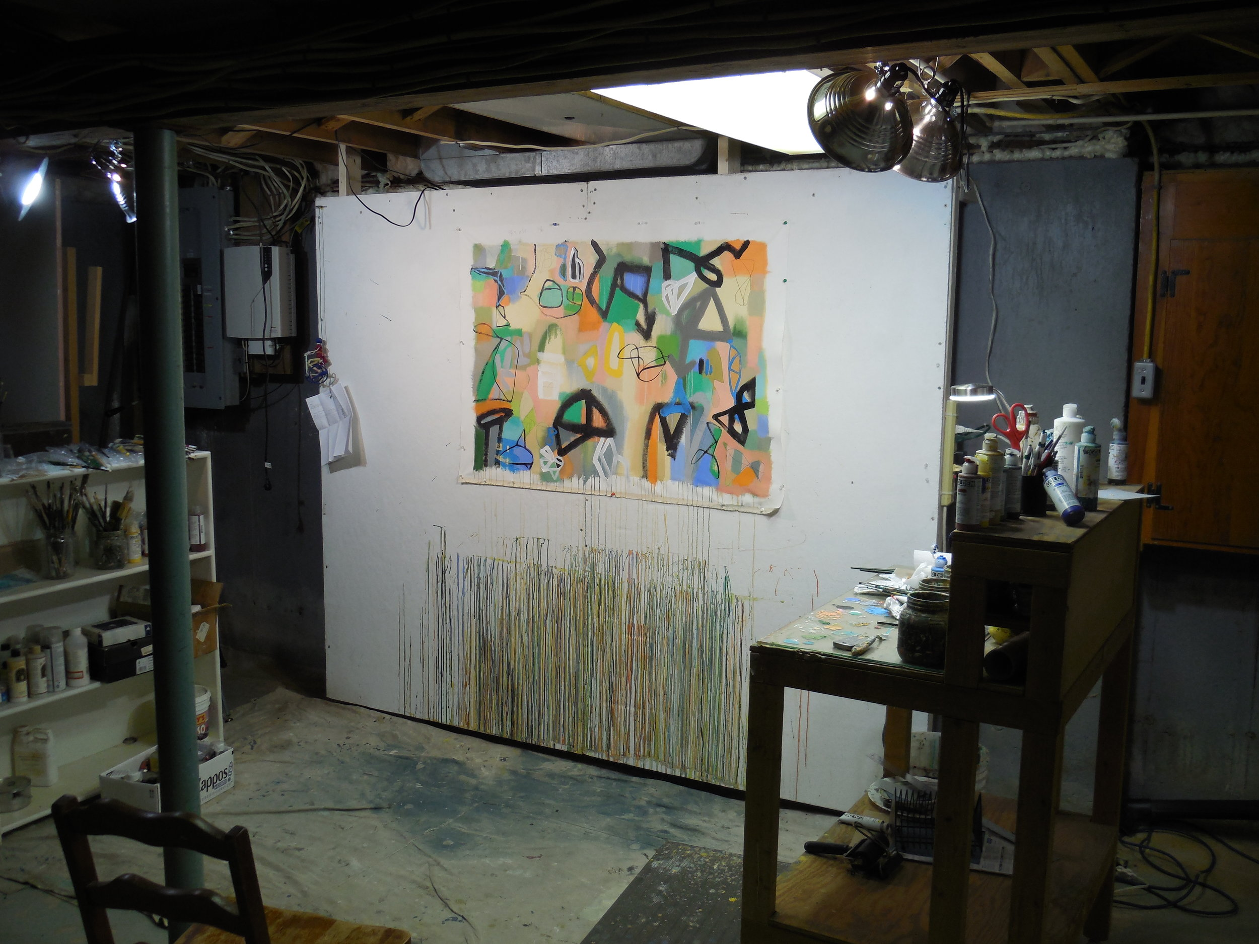 My present studio in Chelmsford, MA. I have since painted the pole bright stripes.