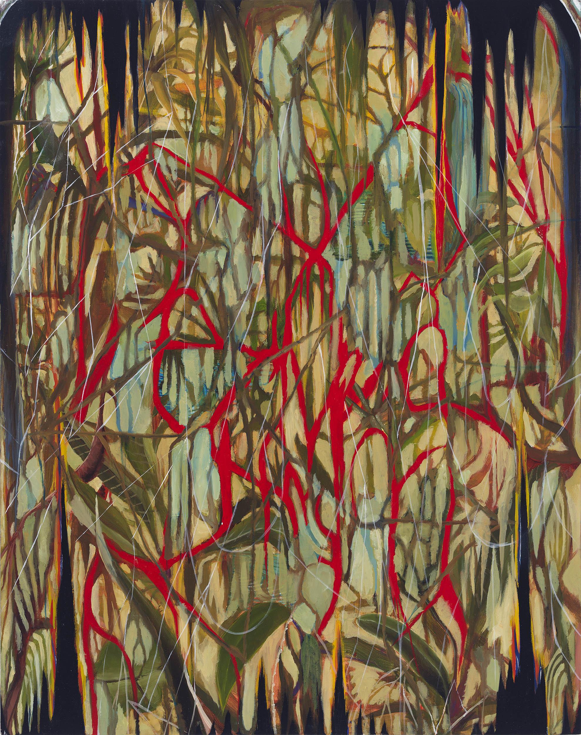 """Dark Moss , 2013, oil on panel, 20"""" x 16"""""""