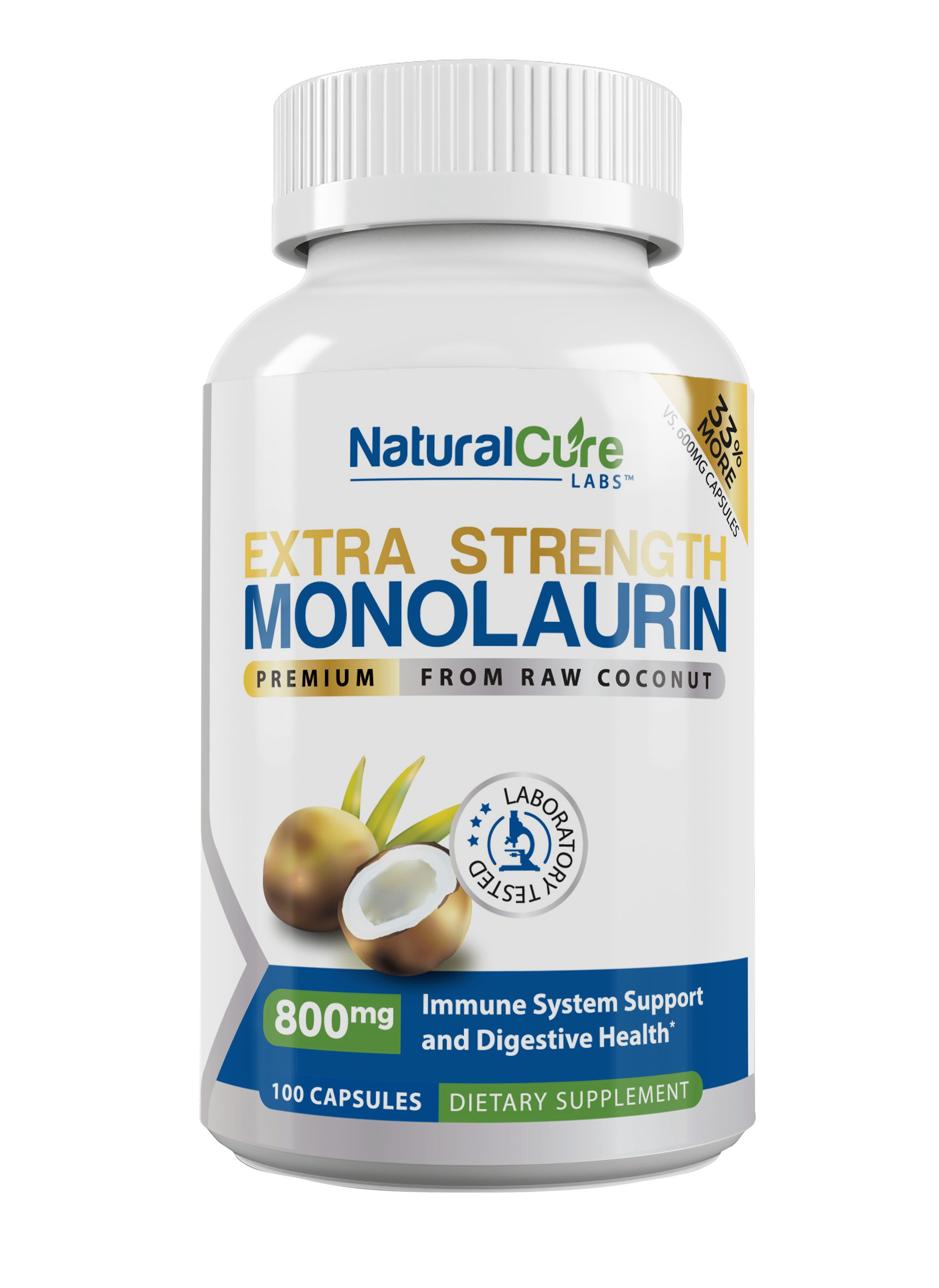 Natural Cure Labs Monolaurin Extra Strength