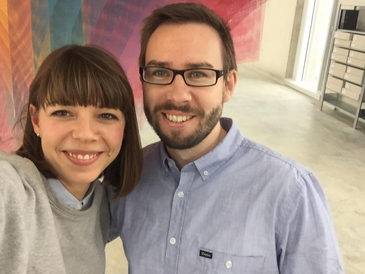 Pauline mit Björn im Coworking Space