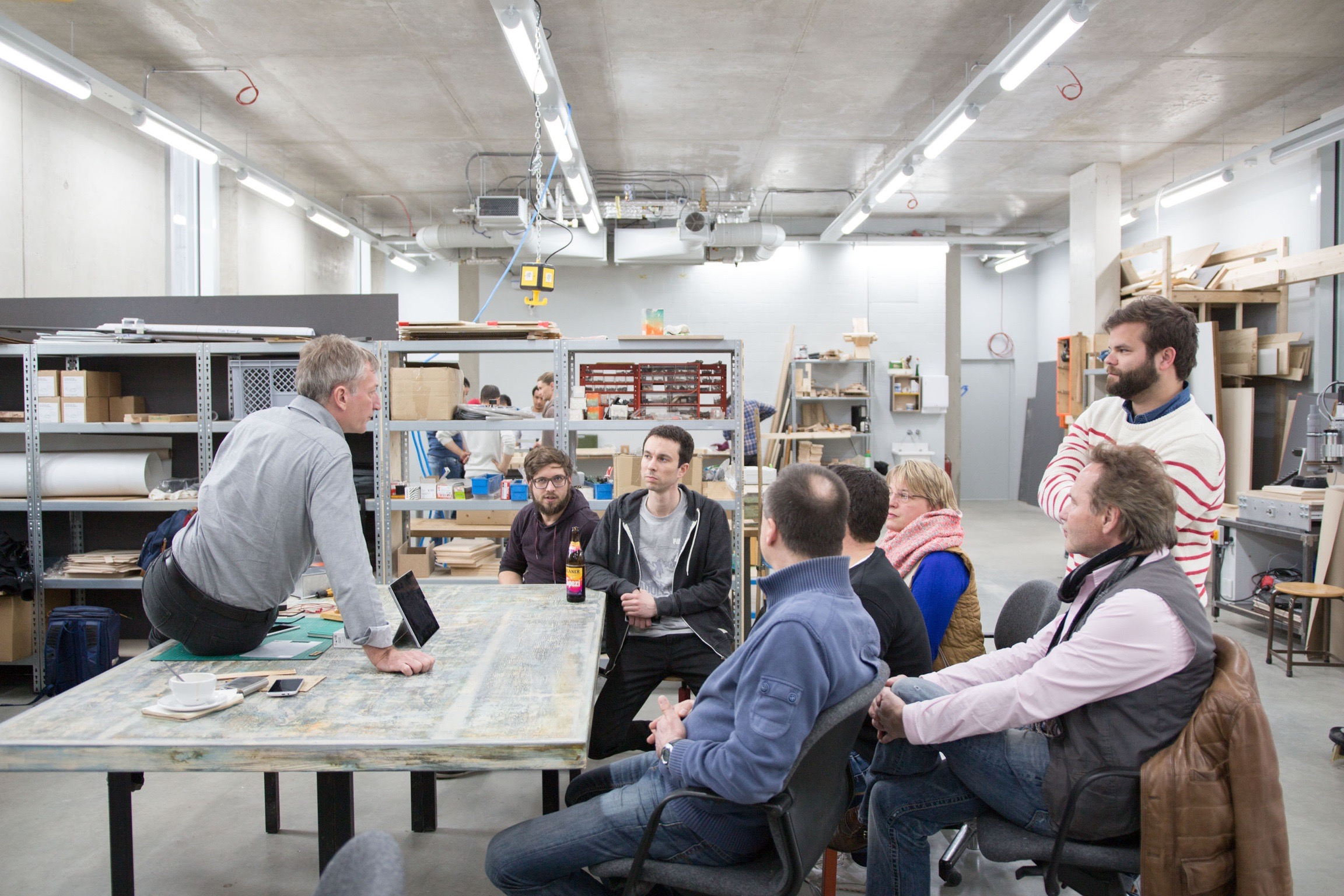 Foto: Gerado Igler beim Expert Workshop »Lasercutter«