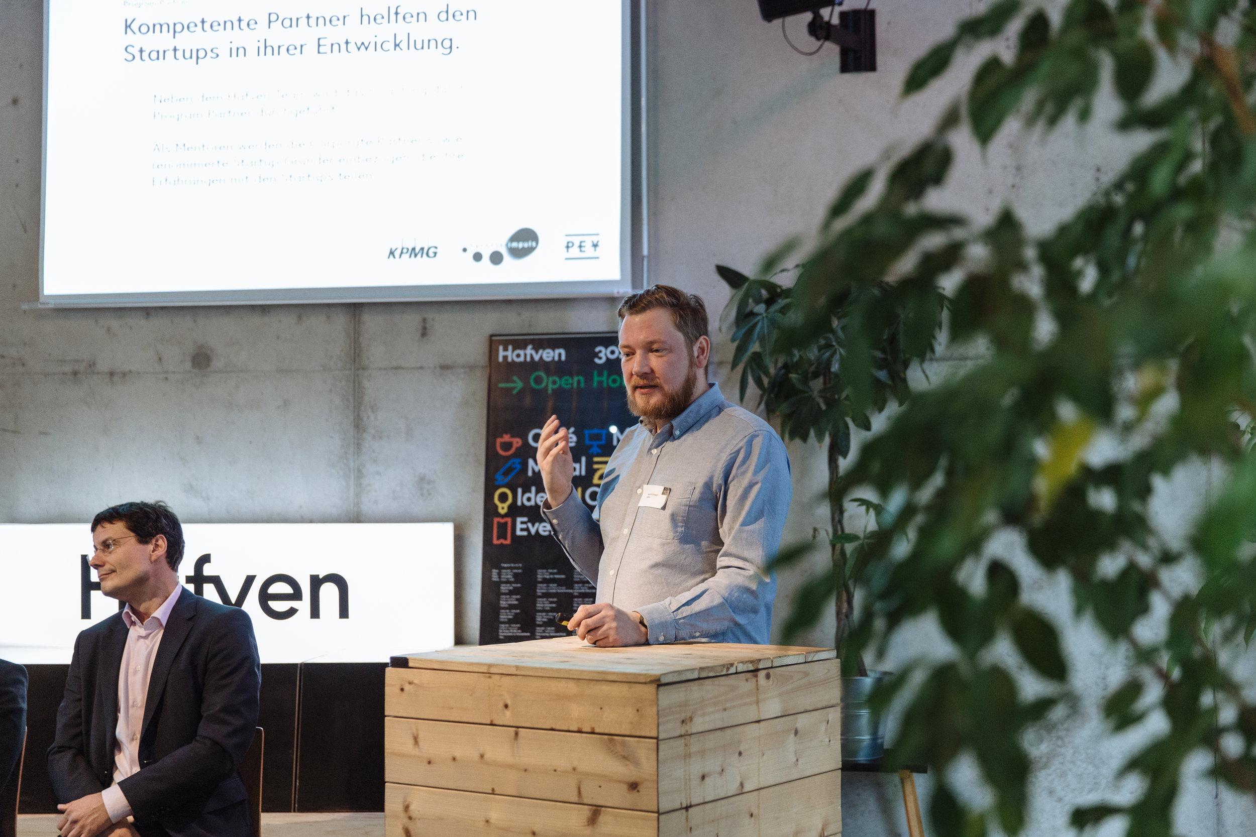 Hendrik Schwedt (Hafven) stellt das Accelerator Konzept vor