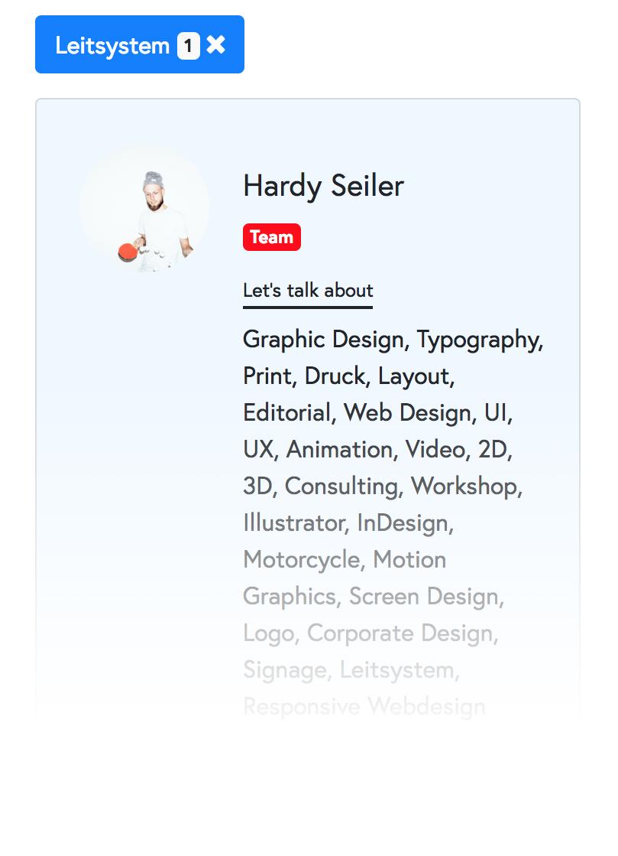 Die Community-Mitglieder-Suche  Vervollständige dein Profil mit deinem Foto und mit deinen Themen / Fähigkeiten um besser als Experte*in gefunden zu werden