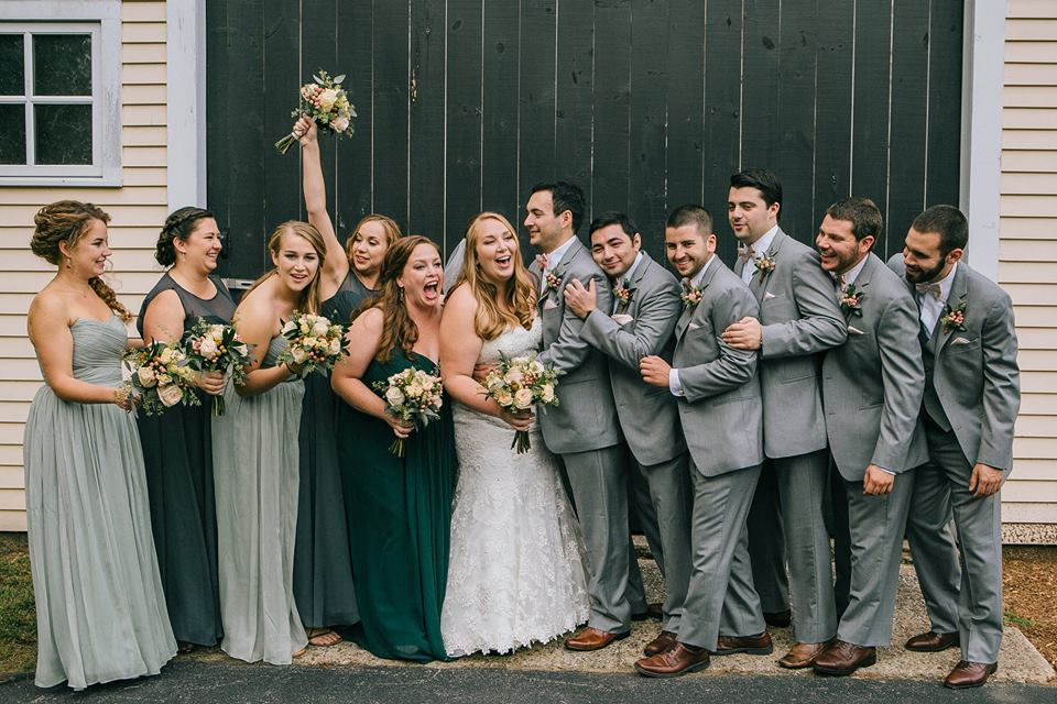 A favorite photo from my own wedding, not because it's picture-perfect, but because it's not! (Photo by  Emily Tebbetts Photography )