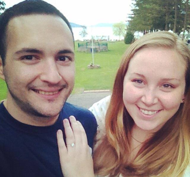 Just two kids who just got engaged and decided to take a pretty low quality selfie.