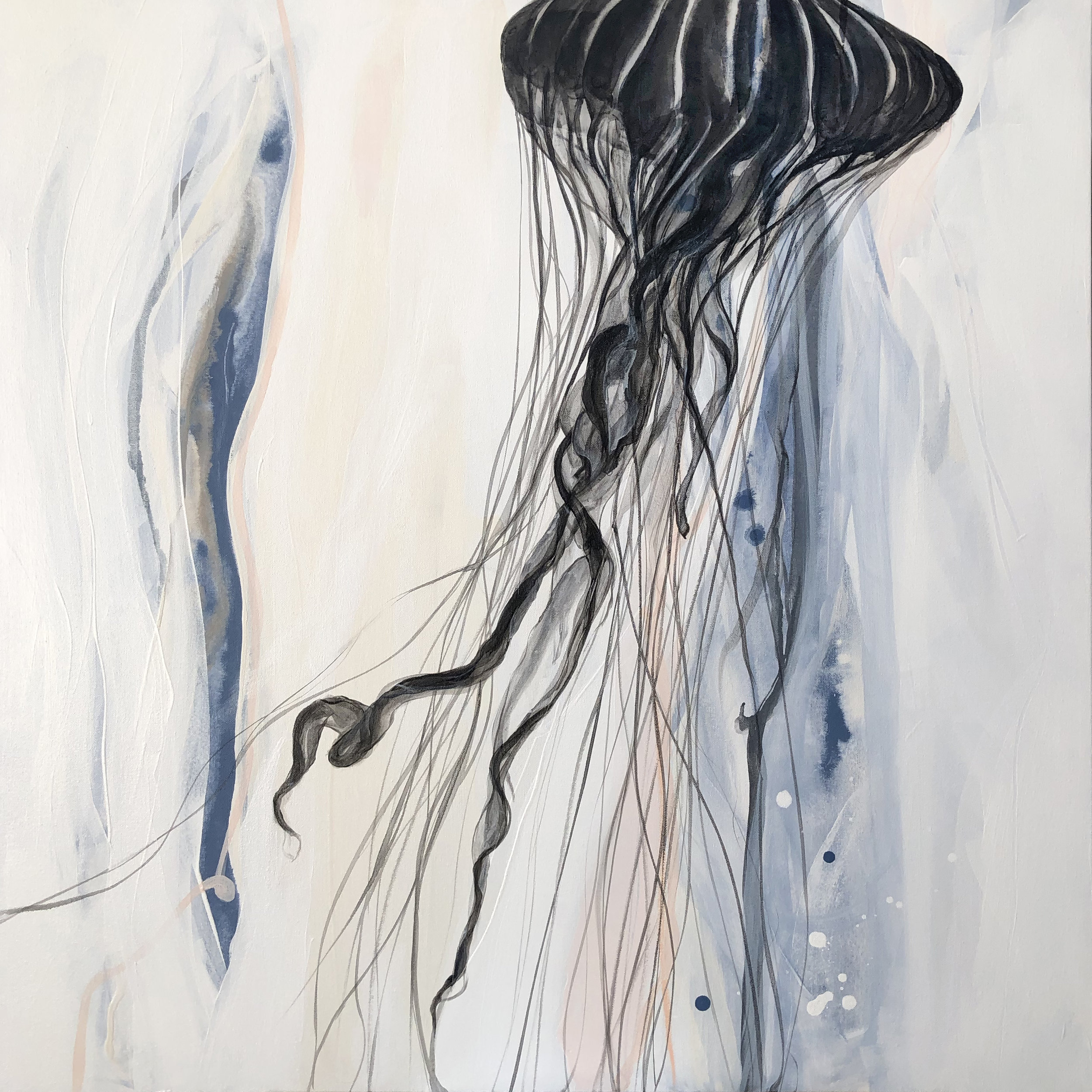 """""""Entangled""""    Mixed Media on Canvas, 36x36x1.5,"""" AVAILABLE at    Gallery Vibe"""