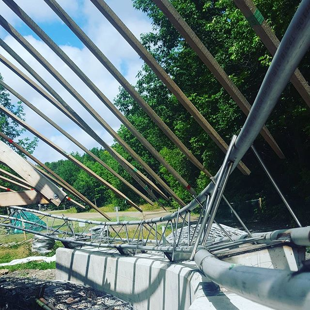 Stay tuned this week for a peak at the #eastside of the edge beam! #almostdone #gridshells #collaboration #wood #experimental #architecture #capebretonhighlandsnationalpark #dalhousie #uncc #uaz #salmonpoolstrail