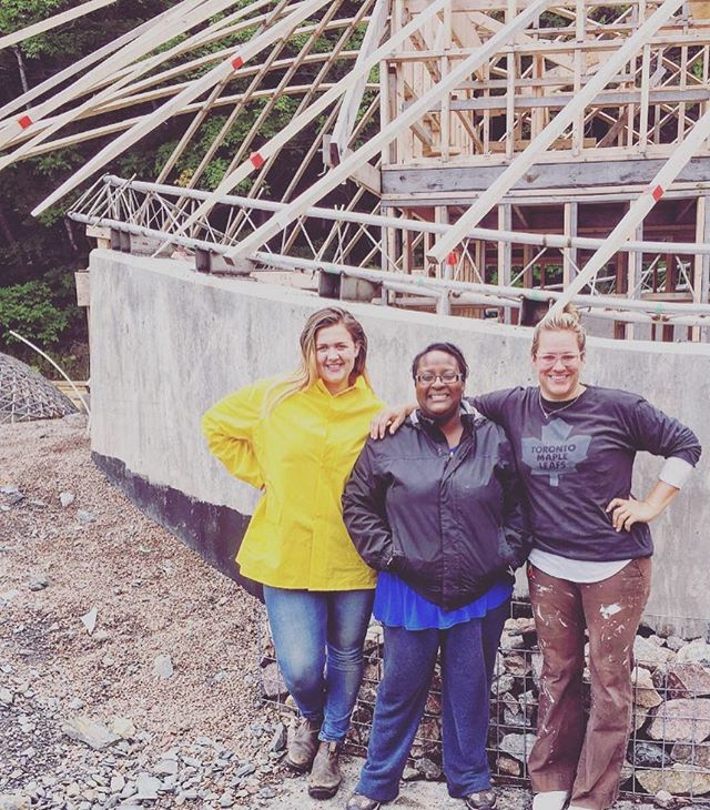 Repost from @mburt - Finishing off the summer with this GiRlZ cLuB #womeninarchitecture #designbuild #gridshell #architecture #exploration #collaboration