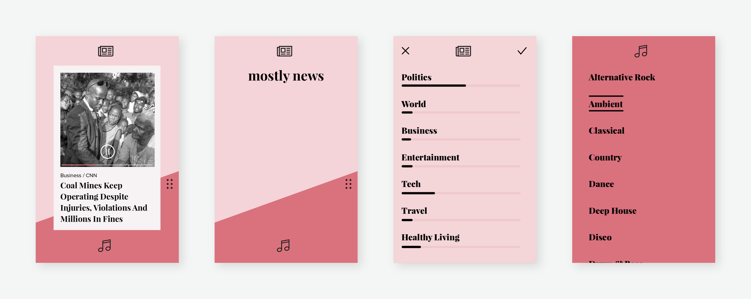 Laying the headline on a white ground made for easier parsing,and also evolved the visual style