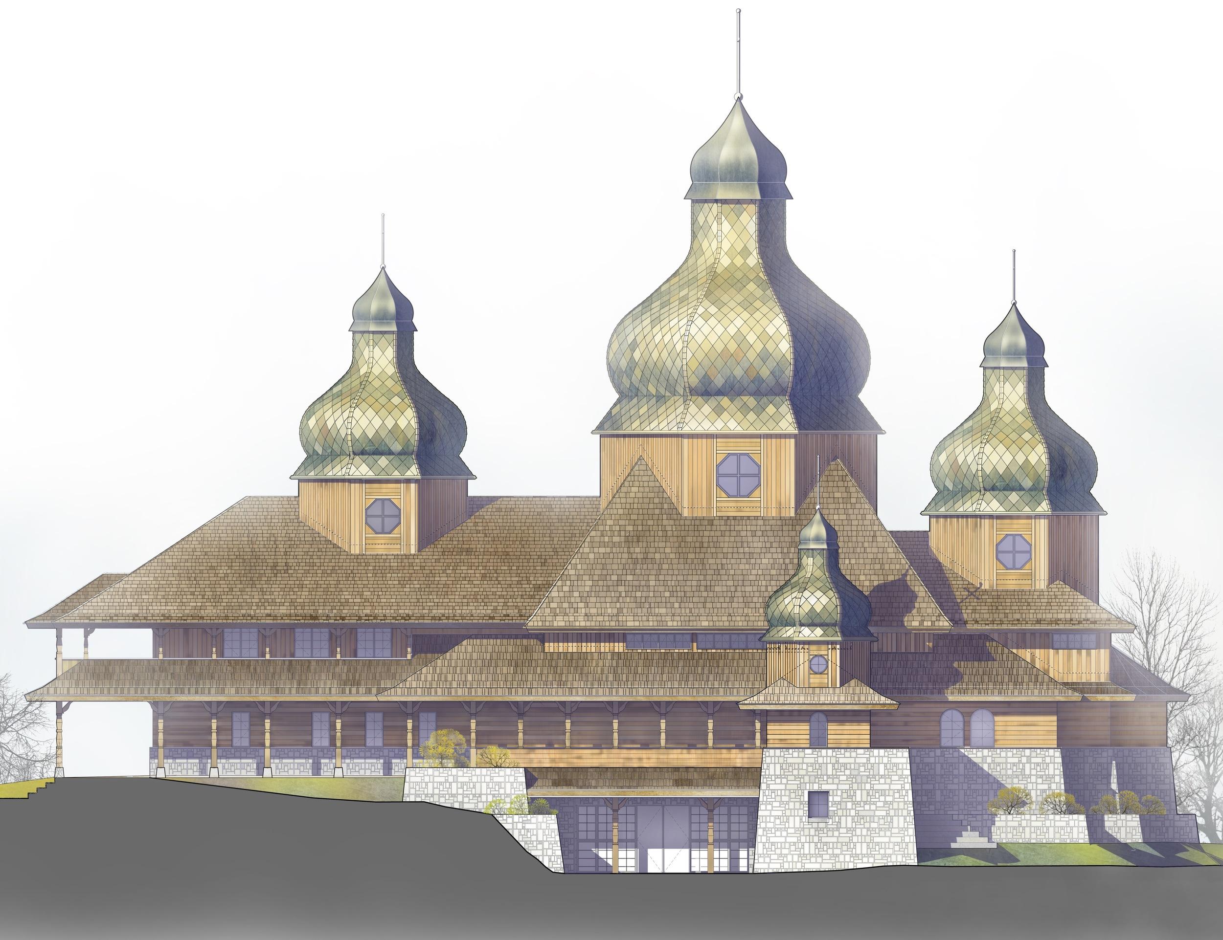 Rendering of St. Elias Church (2016)