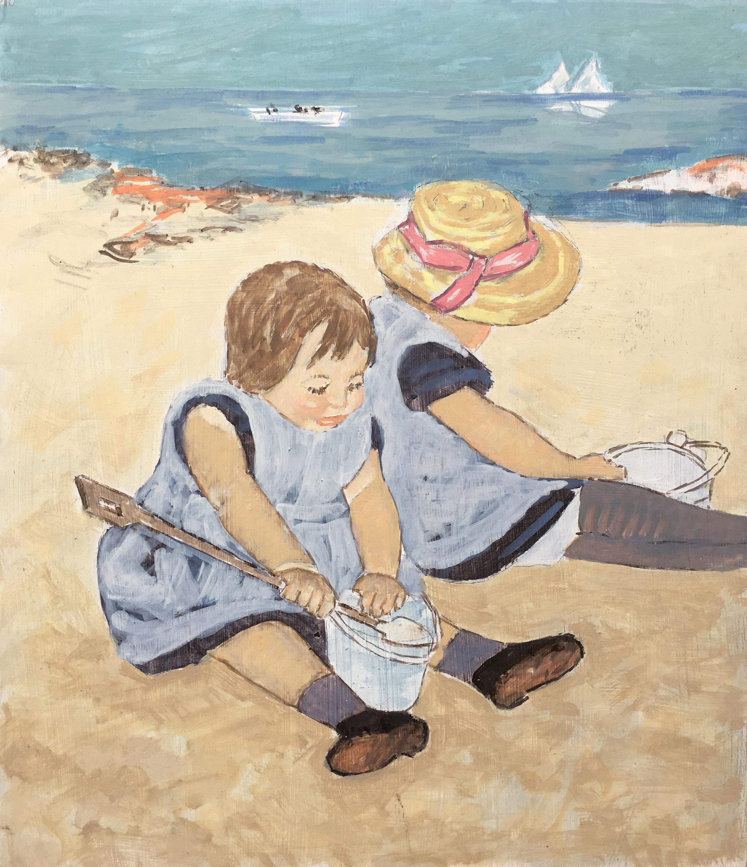 Bambine sulla sabbia