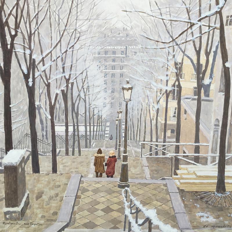 Michele-Gurrado---Pittore---Montmartre-La-rue-Foyatier-d'inverno---2004---olio-su-tavola---50x40-compressor.jpg