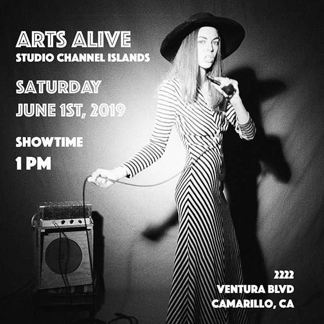 Tomorrow!!! Excited to perform again  at Arts Alive @sciartcenter in Camarillo!  With maestros @notmychair @m_catspoone @iamfiremist 🎶  Flyer by @iamfiremist  Come rock with us!