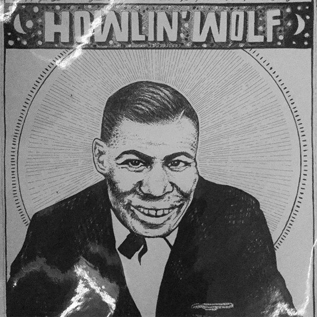 June 10 - Happy Birthday to my hero Howlin' Wolf  Art by @toryelena
