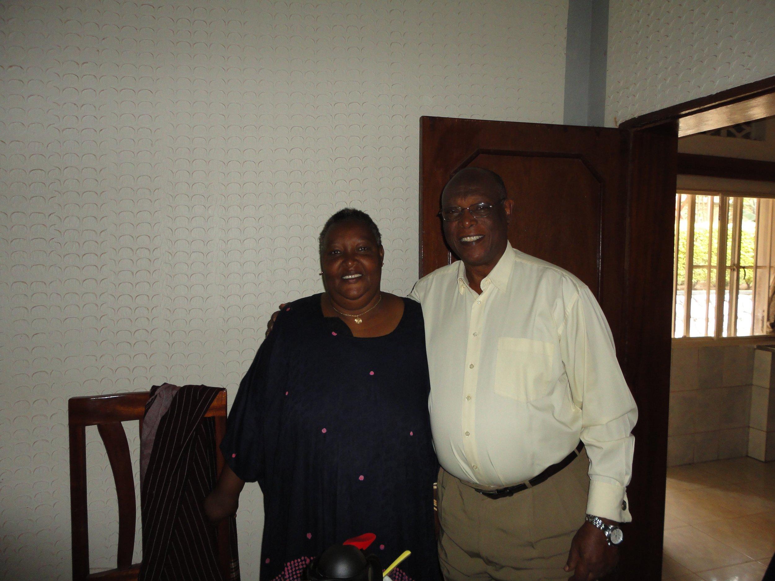 Pastor Leo Rucibigango with his wife.