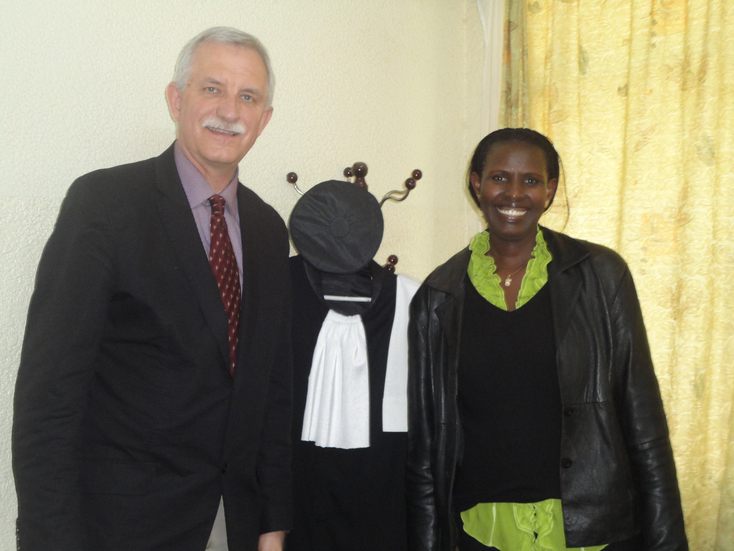 Gary Janzen with Judge Esther