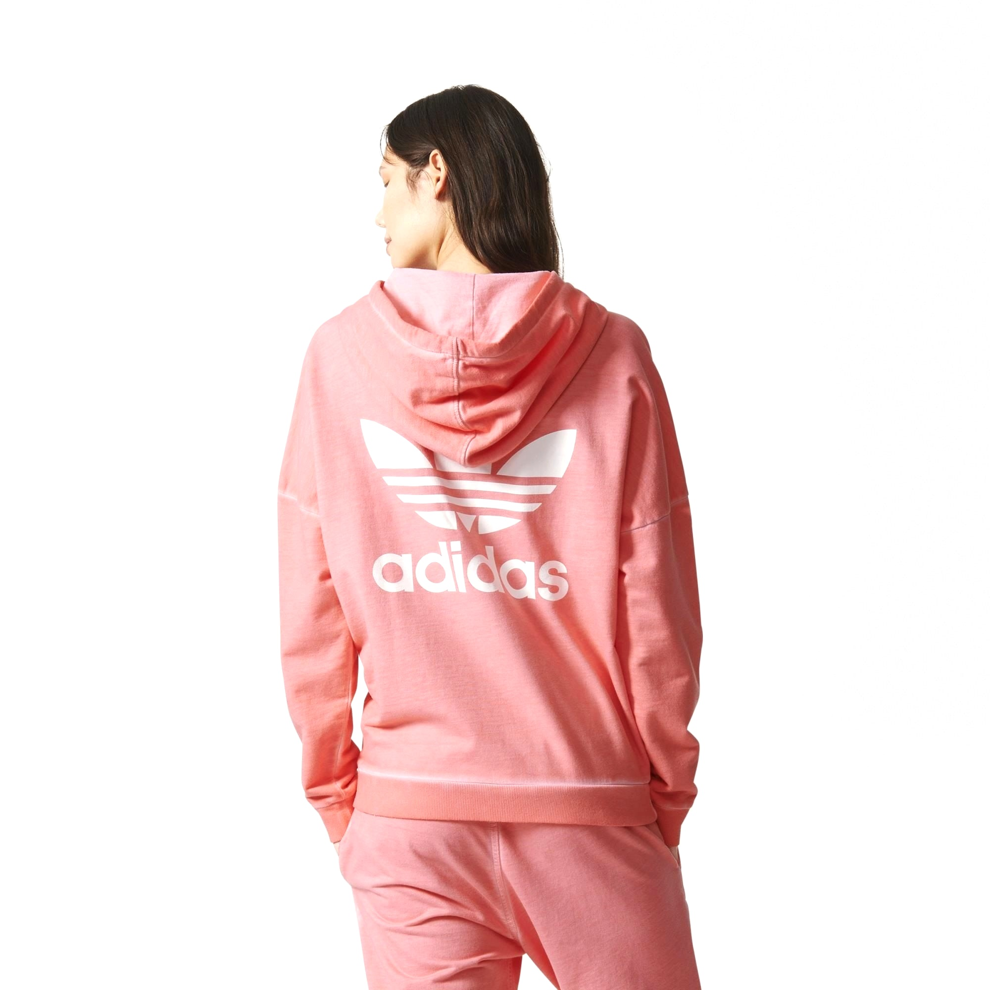 Buy this Premium Essentials hoodie in pink from Adidas here