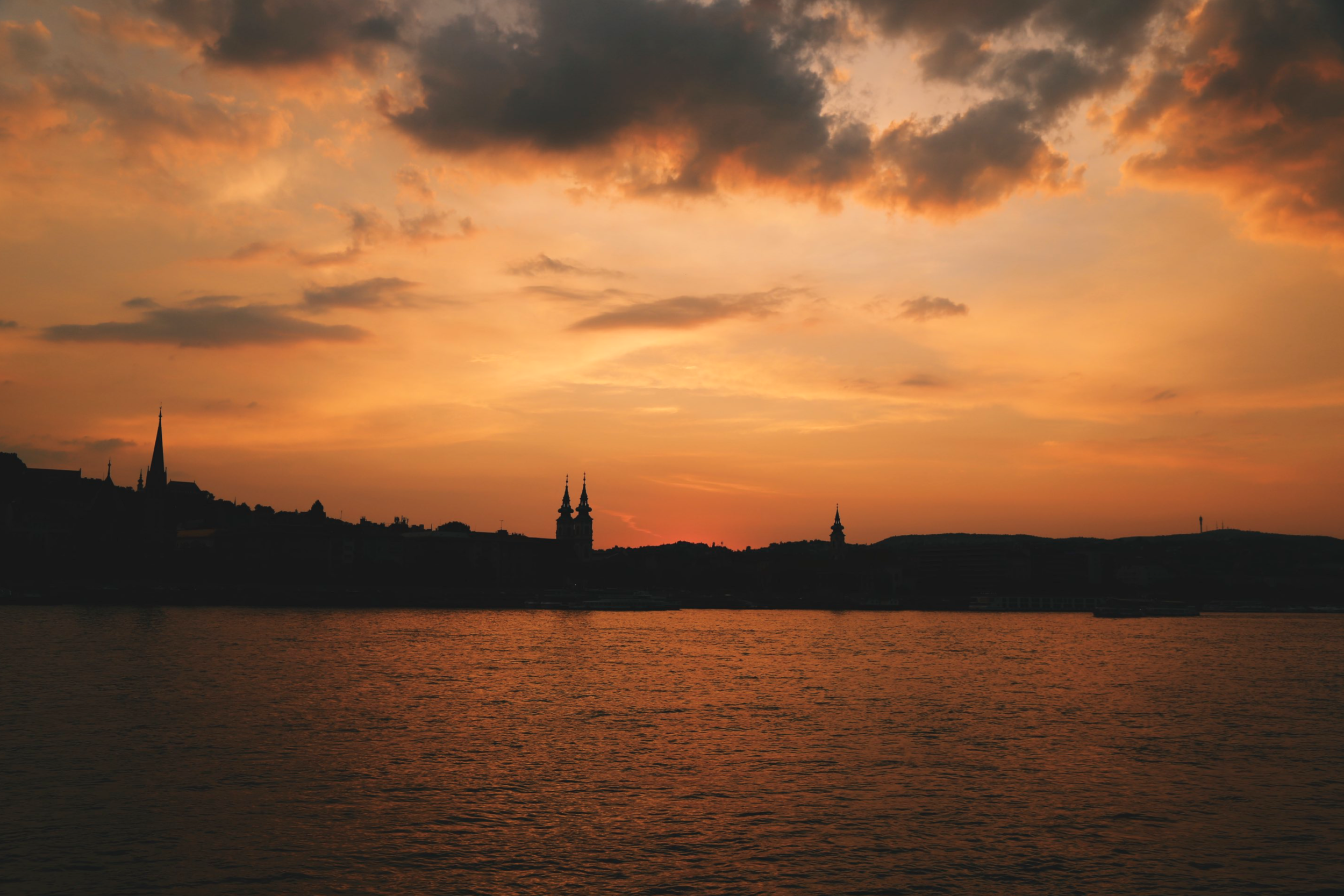 Sunset over the Danube.