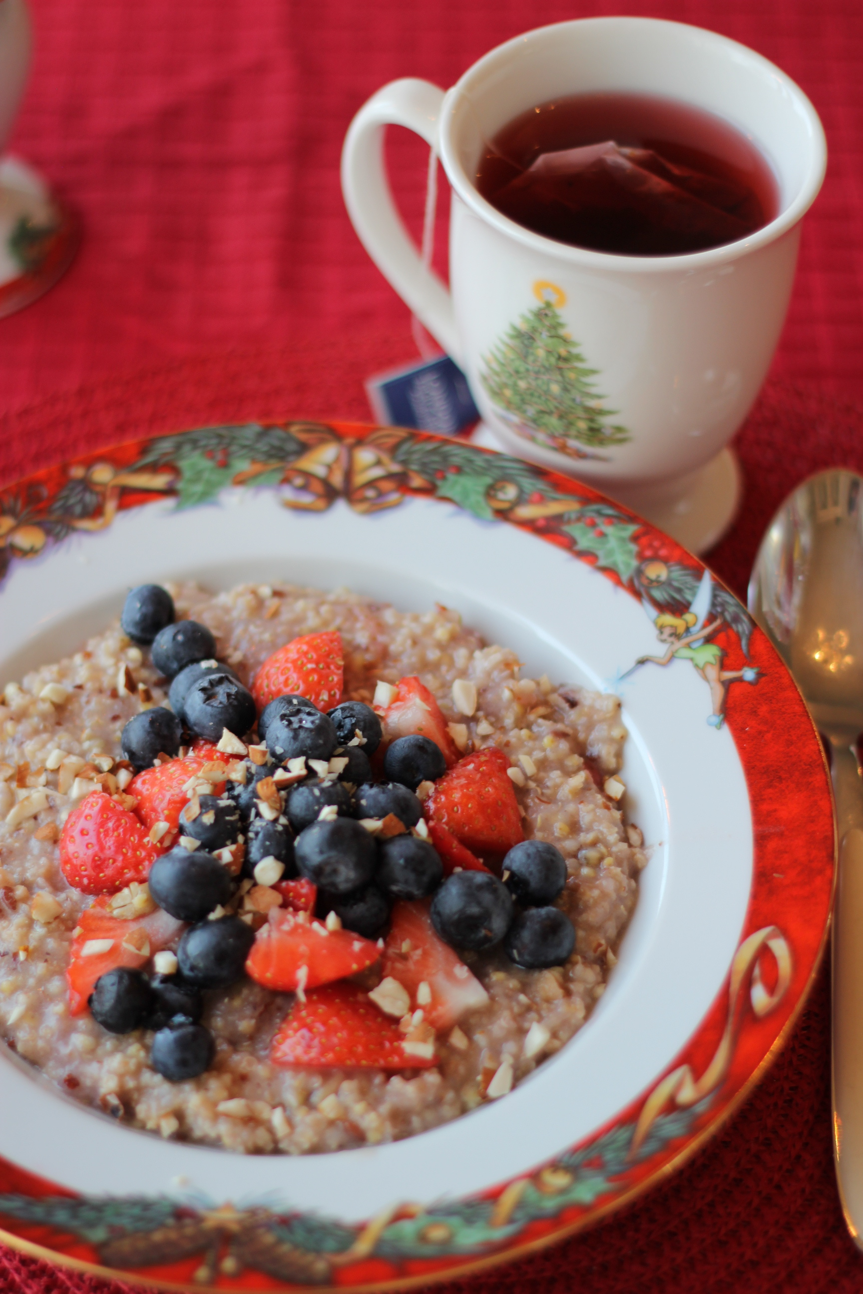 The porridge is gluten free, and filled with vitamin B