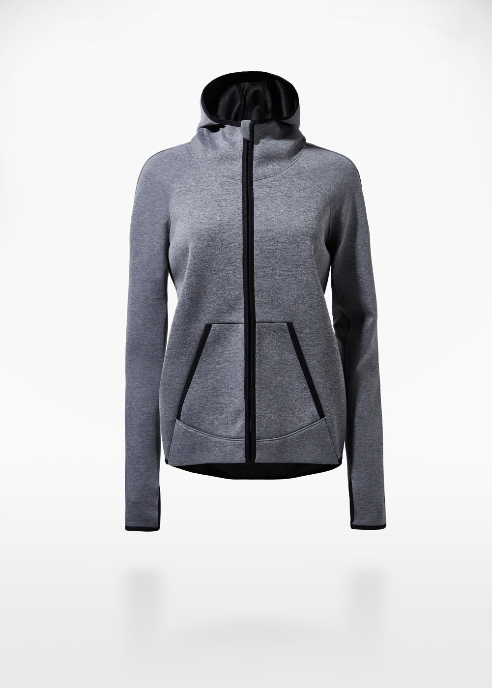 New in !    Zipped Hoodie    from  Mango