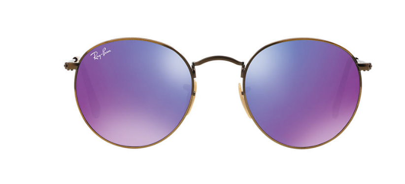 Buy the Ray Ban round flash sunglasses   here