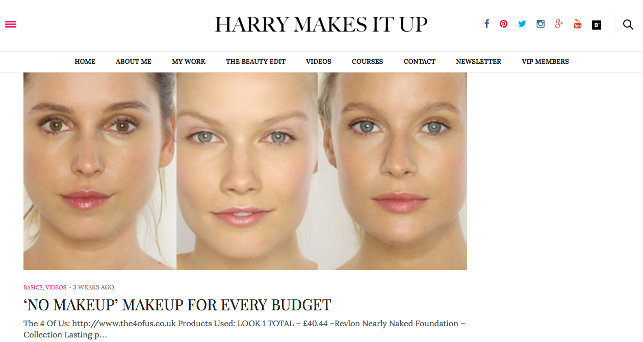 Click   here   to find more of Harriet`s great makeup videos & tips