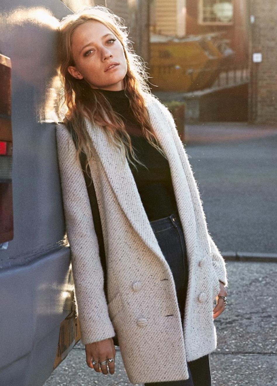 Jagger Coat  in Light Grey
